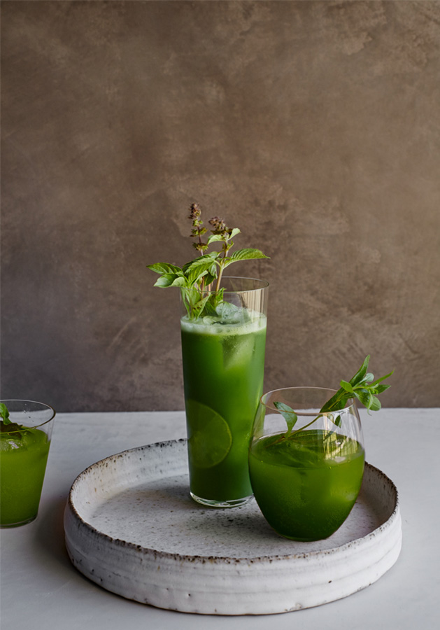 green tonic drink